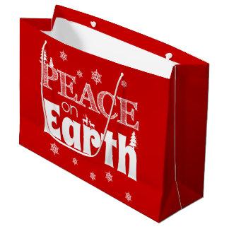Peace On Earth Christmas Large Gift Bag