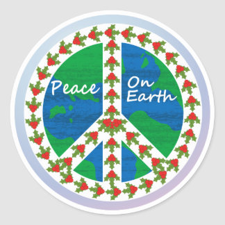 Peace on Earth Christmas Round Sticker