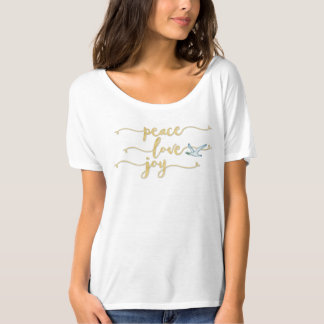 Peace on Earth Colorful Watercolor | Peace Dove T-Shirt