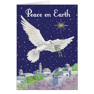 Peace On Earth Custom Greetings Card