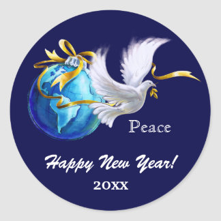 Peace on Earth. Customizable New Year's Stickers