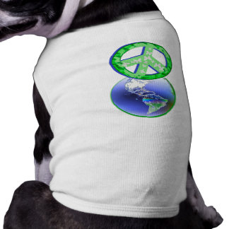 Peace on Earth Day Dog T Shirt