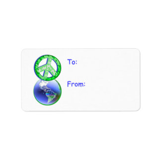 Peace on Earth Day Gift Tag