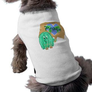 Peace on earth dog tee shirt