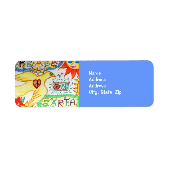 Peace on Earth Dove Address Avery Label
