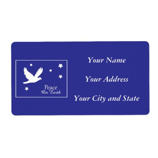 Peace on Earth Dove Christmas Address Labels