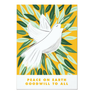 Peace on Earth Dove Christmas Card