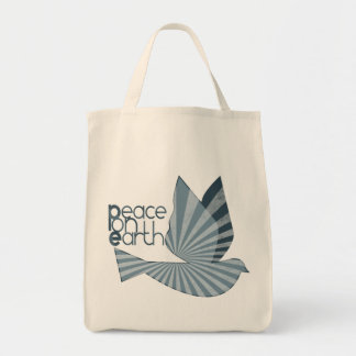 Peace on Earth Dove Tote Bag