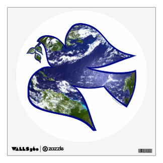 Peace on Earth Dove Wall Sticker