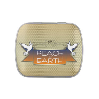 Peace on Earth Doves Gold
