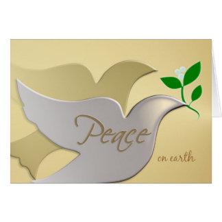 Peace on Earth - Elegant Holiday ChristmasCard Card