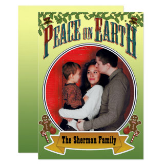 Peace on Earth Family Photo Card