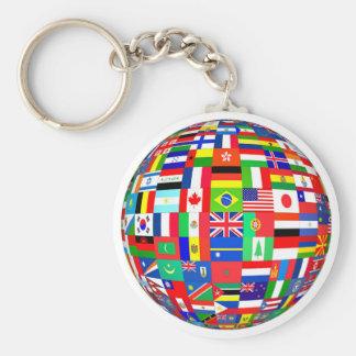 PEACE ON EARTH FLAGS KEYCHAIN