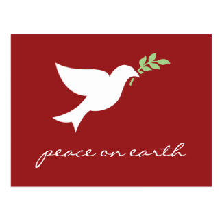 Peace On Earth Flat Holiday Card