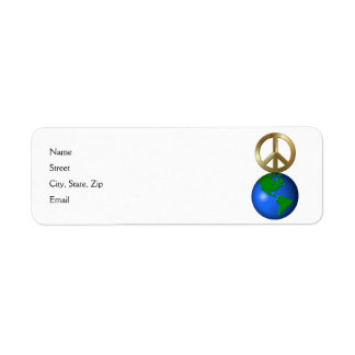 Peace on Earth Fun Rebus Style Word Puzzle Return Address Label