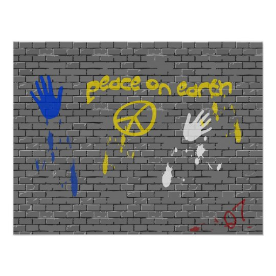 Peace on Earth Graffiti Poster