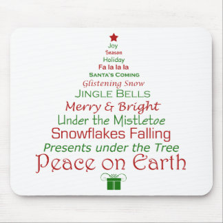 Peace on Earth Holiday Mousepad