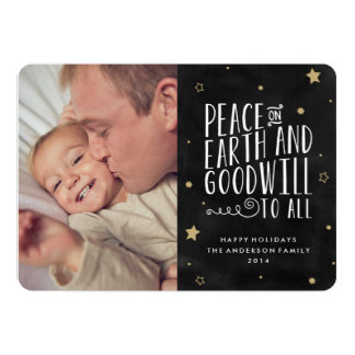 Peace on Earth | Holiday Photo Card