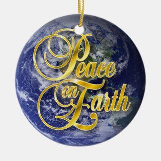 Peace on Earth John 14:27 Round Ceramic Ornament