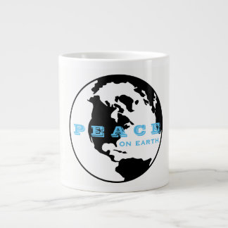 Peace on earth large coffee mug