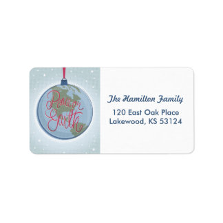 Peace on Earth Ornament Address Label