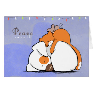 Peace on Earth Patch n Rusty Holiday Card