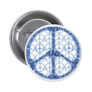 Peace On Earth Peace Sign 2 Inch Round Button
