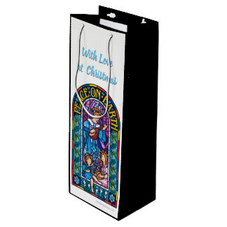 Peace on Earth Pre-Raphaelite bottle gift bag