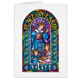 Peace on Earth Pre-Raphaelite Christmas note card