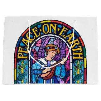 Peace on Earth Pre-Raphaelite large gift bag