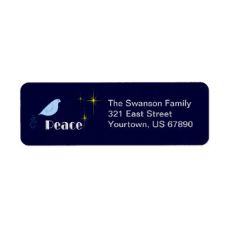 Peace On Earth Return Address Label