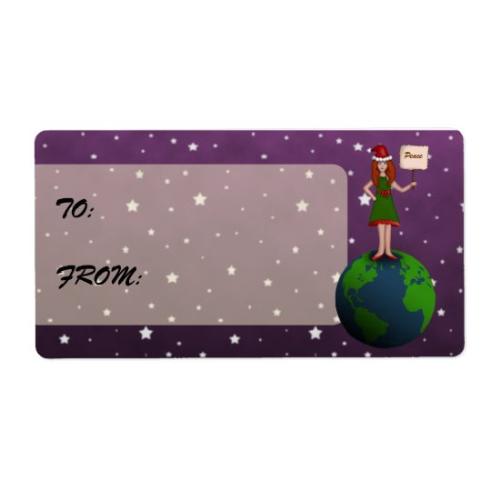 Peace on Earth Shipping Label