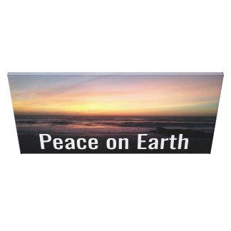 Peace on Earth Sunset on the Beach Print