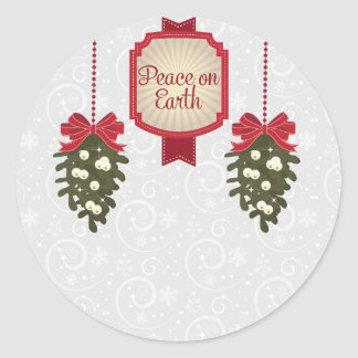 Peace on Earth this Christmas Classic Round Sticker