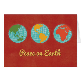 Peace on Earth-Three World Views Card