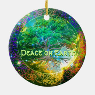Peace on Earth - Tree of Life Wellness Ceramic Ornament