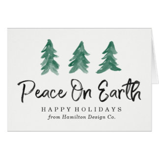 Peace On Earth Watercolor | Corporate Holiday Card