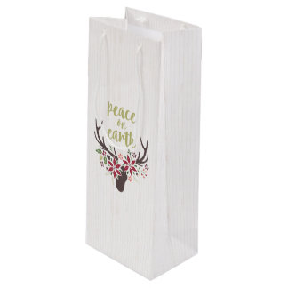 Peace on Earth Wine Gift Bag