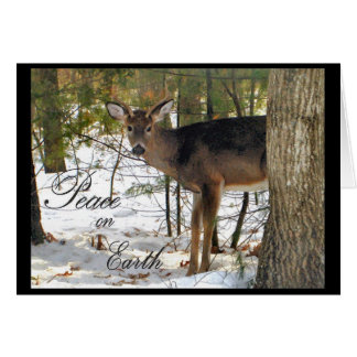 Peace on Earth Winter Deer Greeting Cards