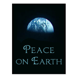 Peace on Earth with Image of Earth from Space Postcard