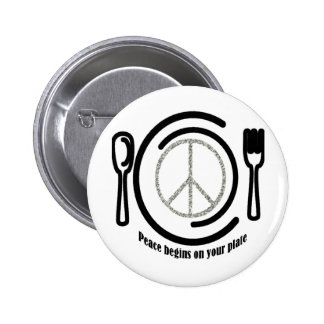 Peace on Plate Button