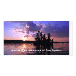 Peace on the Land Tranquil Twilight Photo Card