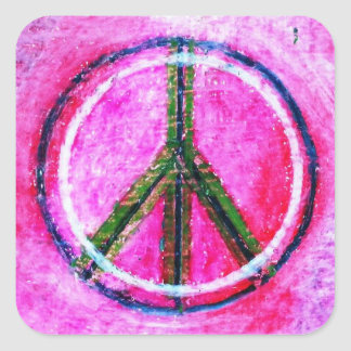 ...peace...original art by healingcolors... square sticker