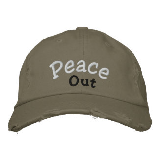 """Peace Out"" Cap"