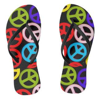 Peace Out Flip Flops