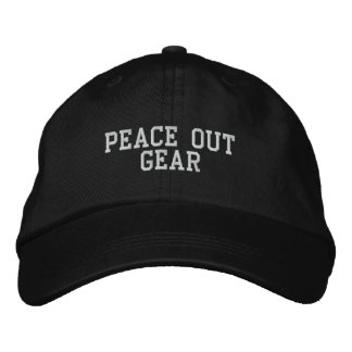 Peace Out Gear Embroidered Hat
