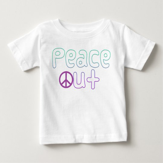 Peace Out Letters Baby T-Shirt