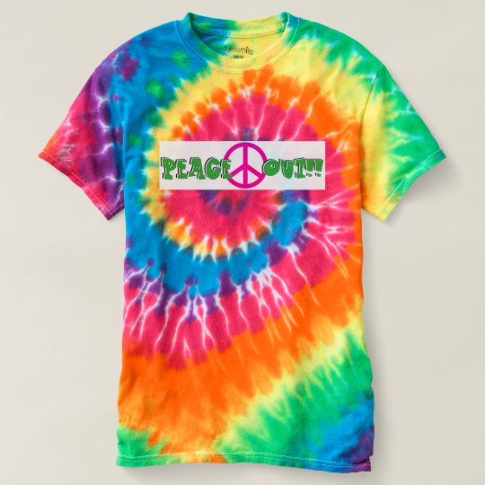 Peace Out - Wild Tie Dye T-shirt