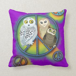 Peace Owl~pillow Throw Pillow