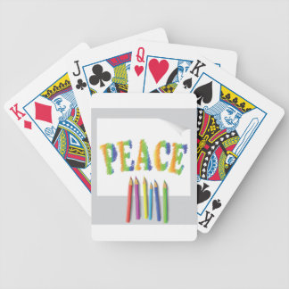 peace painted bicycle playing cards